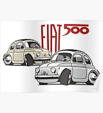 Fiat 500 personalized for Olivia Poster