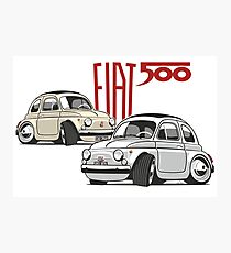 Fiat 500 personalized for Olivia Photographic Print