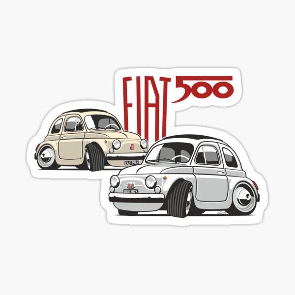 Fiat 500 personnalisée pour Olivia Sticker