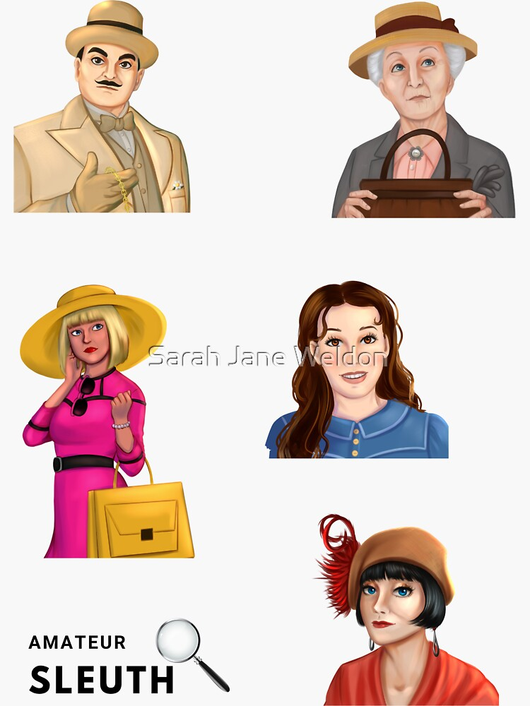 Greatest Cozy Mystery Amateur Sleuths Sticker Pack by SarahRowsSolo