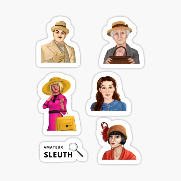 Greatest Cozy Mystery Amateur Sleuths Sticker Pack Sticker