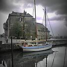 Honfleur Harbourside  by Larry Lingard-Davis