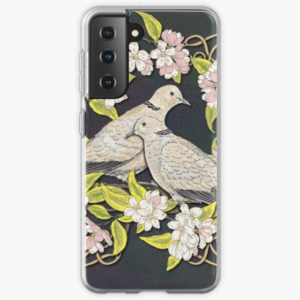Celtic Collared Doves in Blossom Samsung Galaxy Soft Case