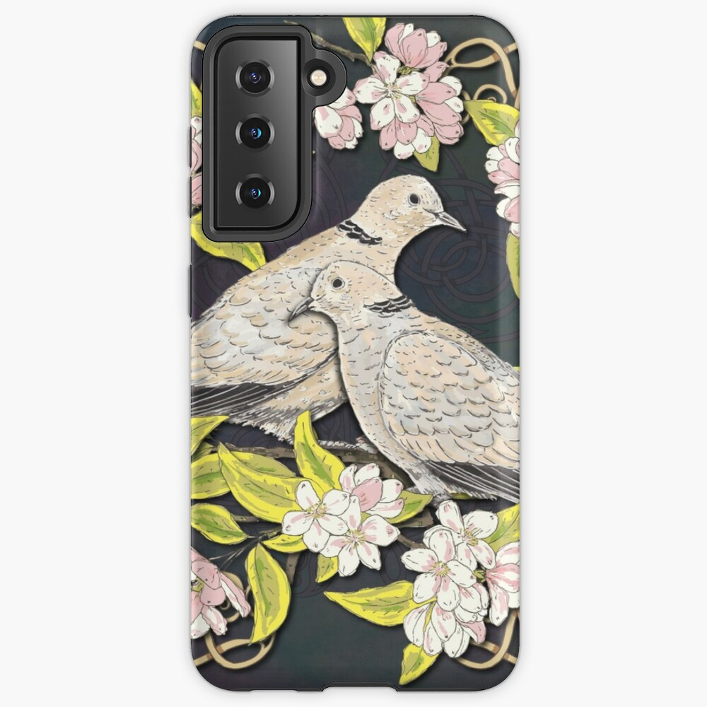 Celtic Collared Doves in Blossom Case & Skin for Samsung Galaxy
