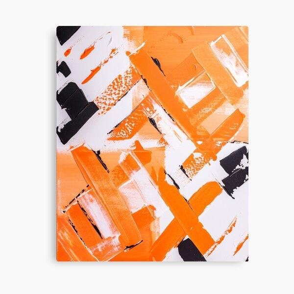 Abstract paint structure orange black Canvas Print