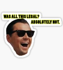 Wolf of Wallstreet: Absolutely Not Sticker