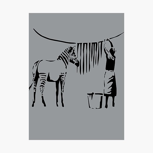 Banksy Zebra Photographic Print
