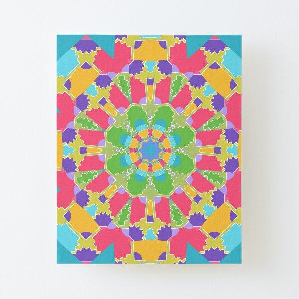 Turquoise Mandala Canvas Mounted Print