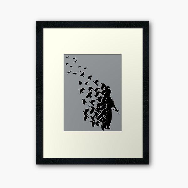 Banksy Birds Framed Art Print