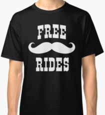 Mustache Rides Classic T-Shirt