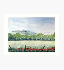 View, Lomond Hills Art Print
