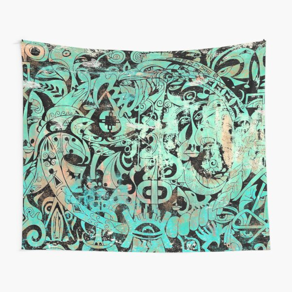The Green Gladiator - Ancient Romans - Large Wall Art Tapestry