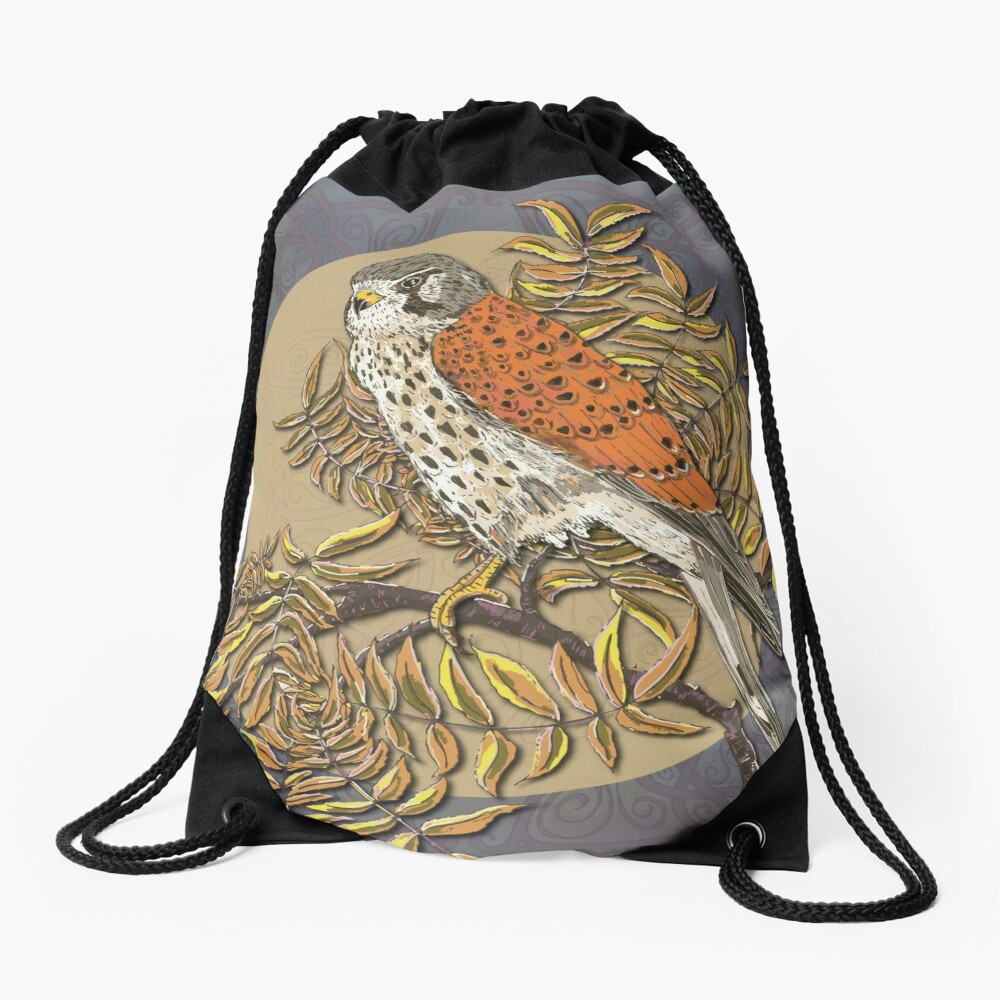 Celtic Kestrel Drawstring Bag