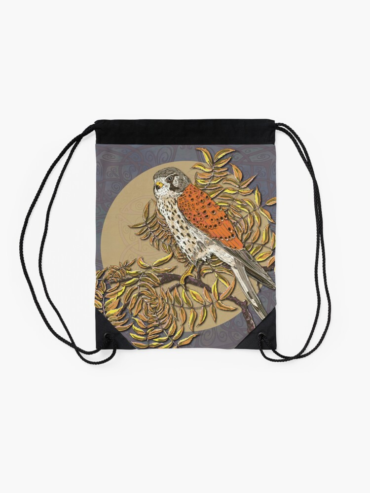 Alternate view of Celtic Kestrel Drawstring Bag