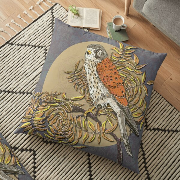 Celtic Kestrel Floor Pillow