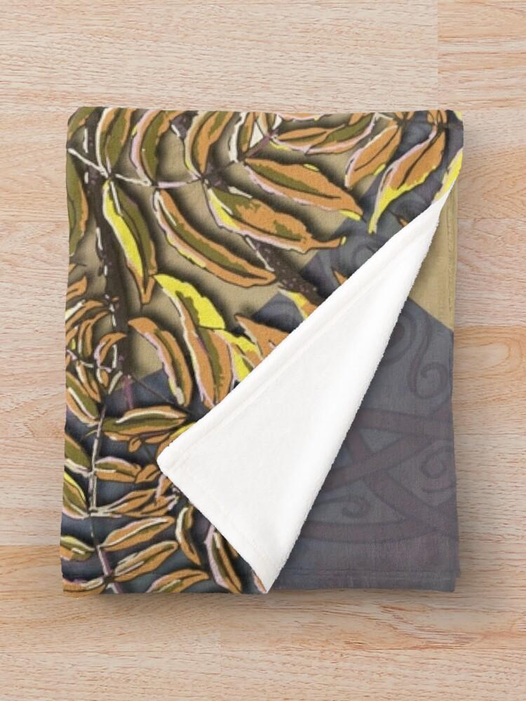 Alternate view of Celtic Kestrel Throw Blanket