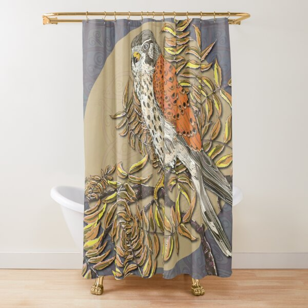 Celtic Kestrel Shower Curtain