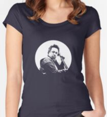 mingus portrait  (for dark background) Women's Fitted Scoop T-Shirt