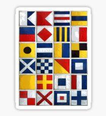 nautical flags Sticker