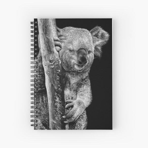 Koala Black and White Art Spiral Notebook
