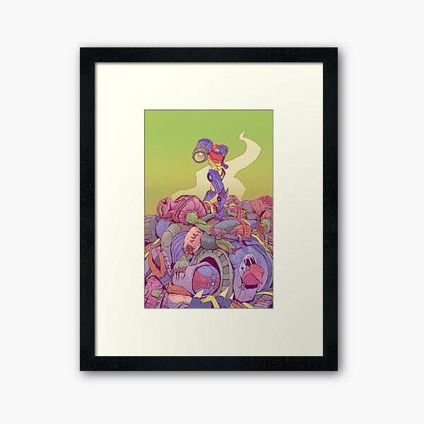 Samus v Space Pirates Framed Art Print