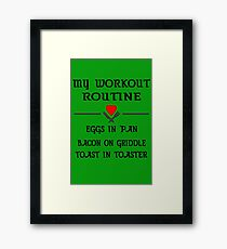 Breakfast Workout Routine Girls Muscle Top Framed Print