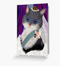 Historic Cats - Victoria I Greeting Card