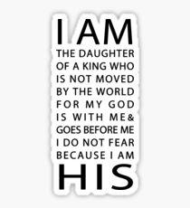 Christliches Zitat Sticker