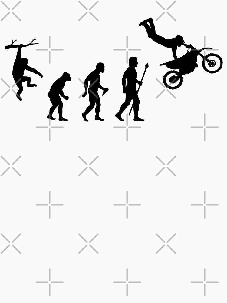 Evolution Dirtbike lustiges T-Shirt von BeyondEvolved