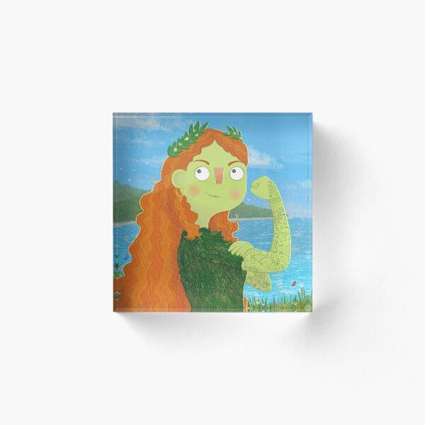 Mother Earth Acrylic Block