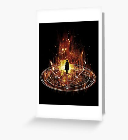 transmutation-red Greeting Card