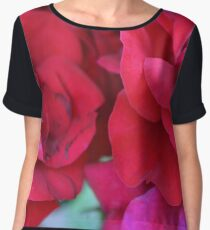 Pink roses, natural composition. Chiffon Top