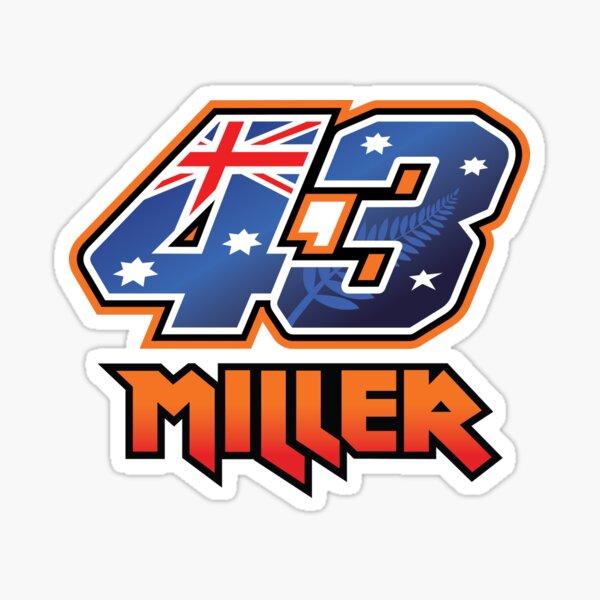 Jack Miller Number 43 2021 Sticker
