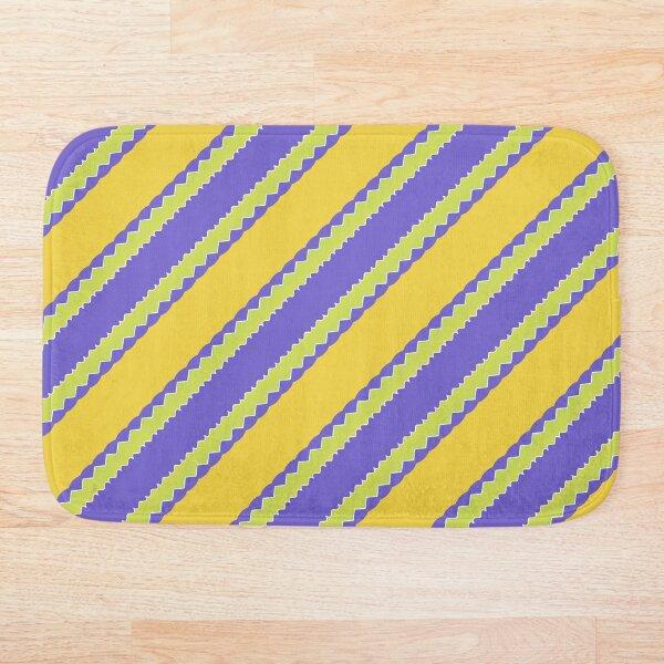 Yellow Purple Stripe Bath Mat