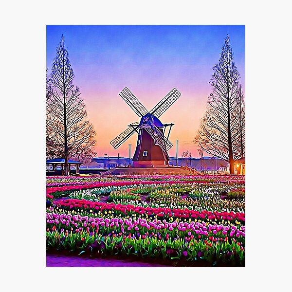 "Windmill In Netherland ""Artwork"" Photographic Print"