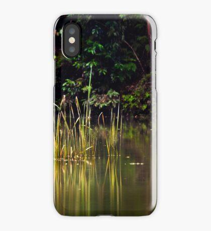 Blue Pool reflections III iPhone Case/Skin