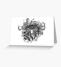 black spider Greeting Card