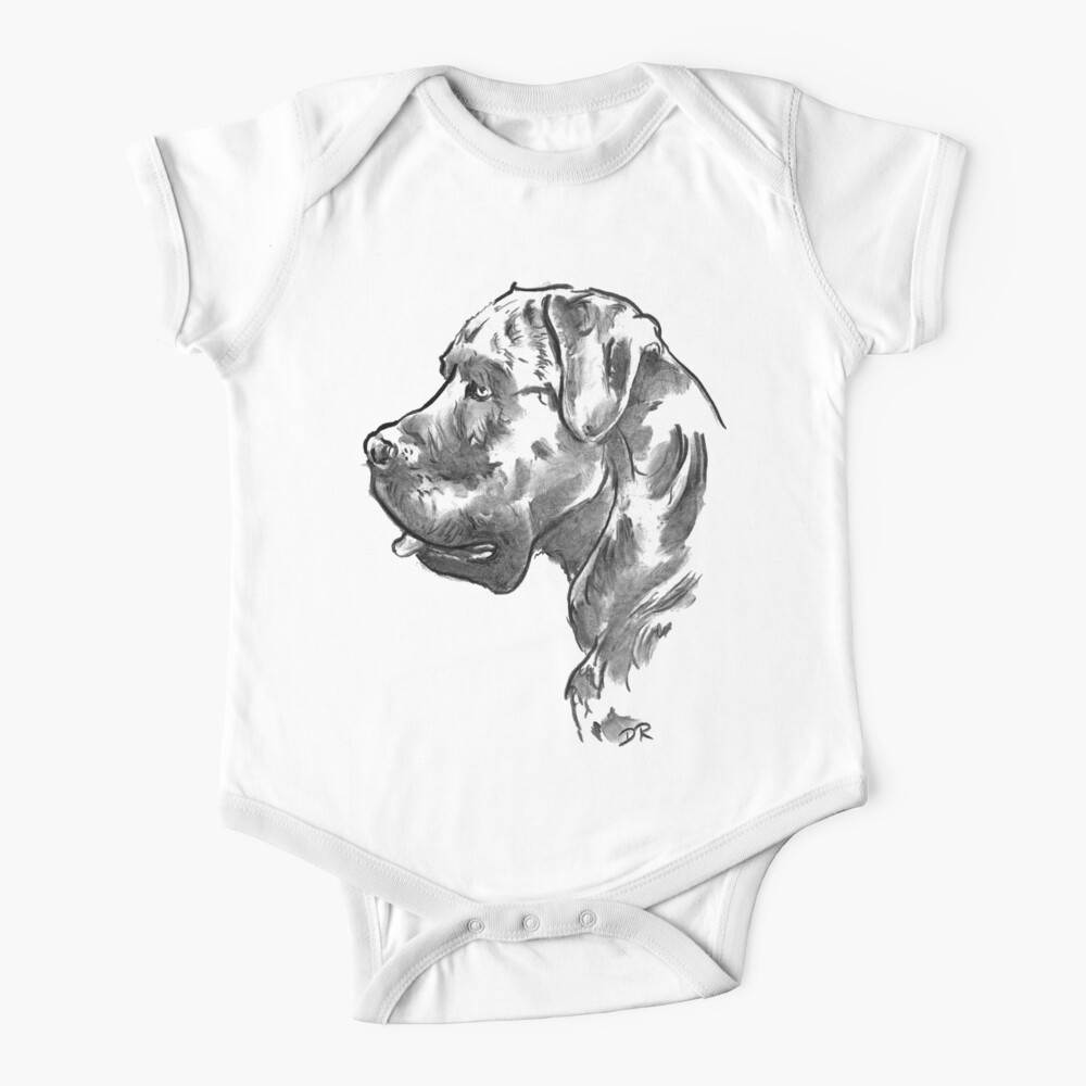 Cane Corso Drawing Baby One-Piece