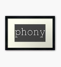 Phony 2.0 Framed Print