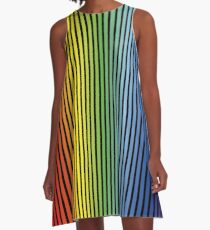 Rainbow (Color Gradient, Colour Gradient) A-Line Dress