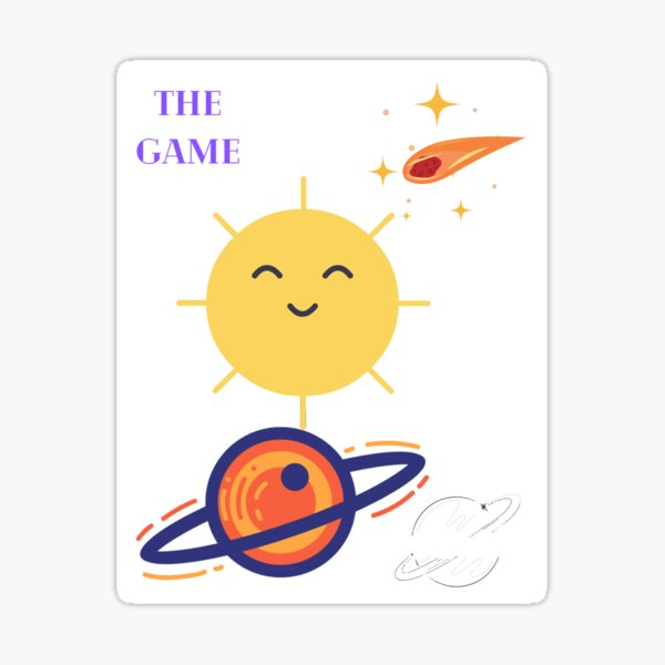 the game-Outside of earth Sticker