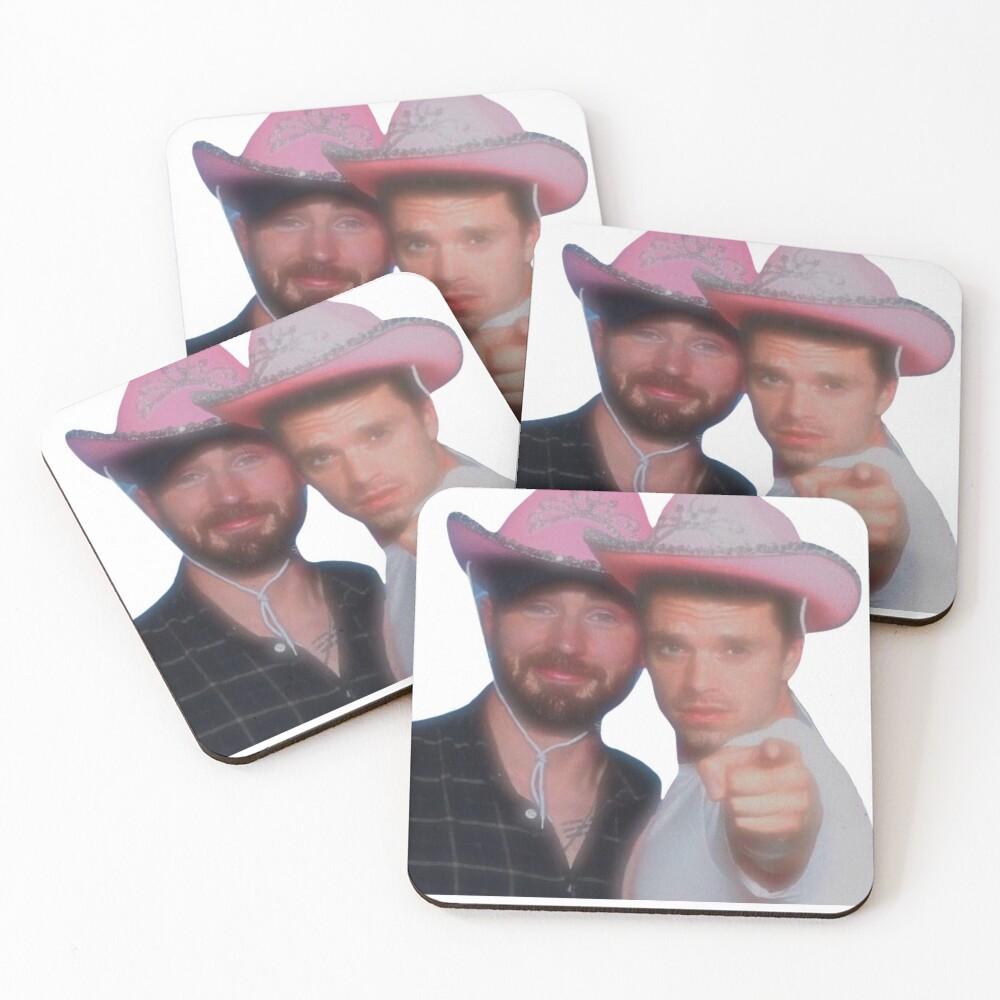 Chris Evans & Sebastian Stan Coasters (Set of 4)