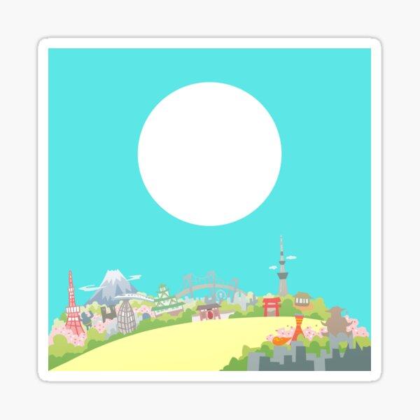 Blue Sky in Japan Sticker