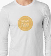 Roam Free Lockup, Mustard Long Sleeve T-Shirt
