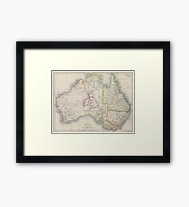 Australia and British Isles Size Comparison Map Framed Print