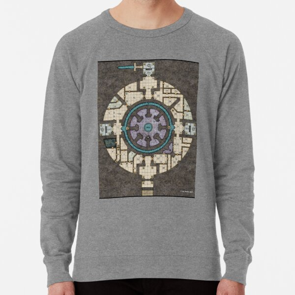 Orb Dungeon Map Lightweight Sweatshirt
