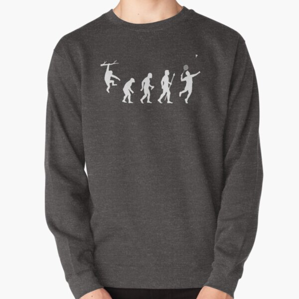 Funny Badminton Evolution Pullover Sweatshirt