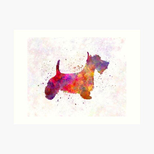 Scottish Terrier in watercolor Art Print