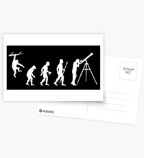 Funny Evolution Of Man Astronomy Postcards