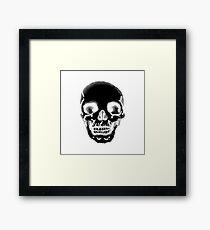 Totenkopf schwarz Framed Print